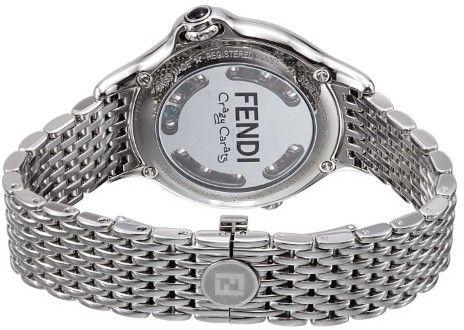 Fendi Women's F105031000T02 Crazy Carats Analog Display Swiss Quartz Silver Watch