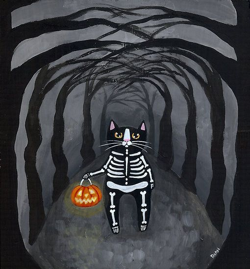 Skeleton Kitty by Ryan Conners