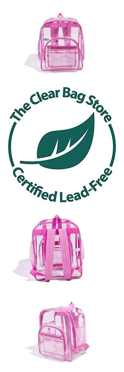 Novelty Attire 175632: Medium Clear Backpack Pink Available In 3 Sizes Black Or Pink -> BUY IT NOW ONLY: $31.33 on eBay!
