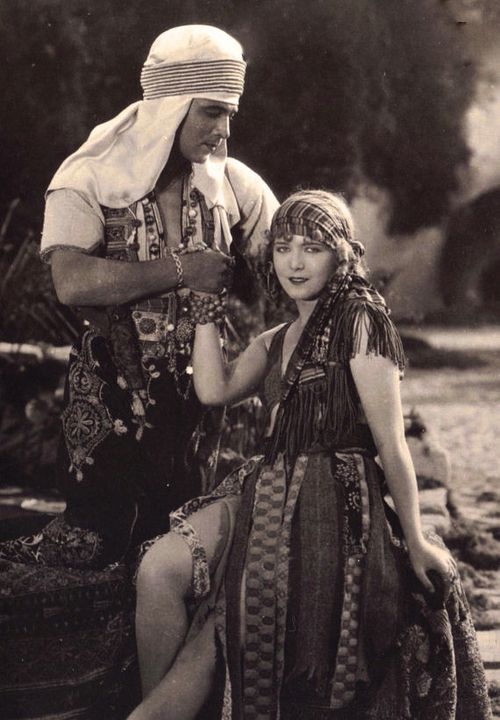 Rudolph Valentino and Vilma Banky in Son of the Sheik c.1926
