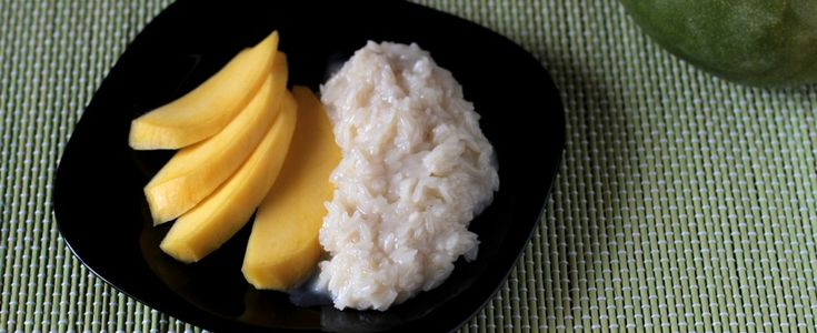 Mango con riso al cocco