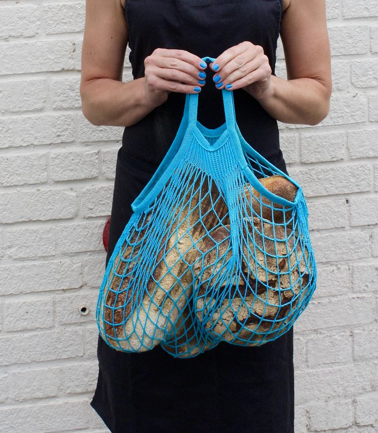 Filt French Net Bag in Blue. www.storiesinthemaking.co.uk