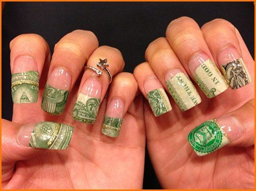 24 best money images on pinterest hairstyle money and money themed nail art prinsesfo Images