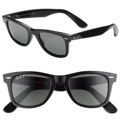 "Tom Cruise sported these black RAY-BAN Wayfarers in ""Risky Business"" (1983)"