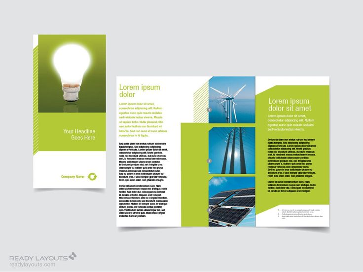 brochure template conservation brochure using color and graphics