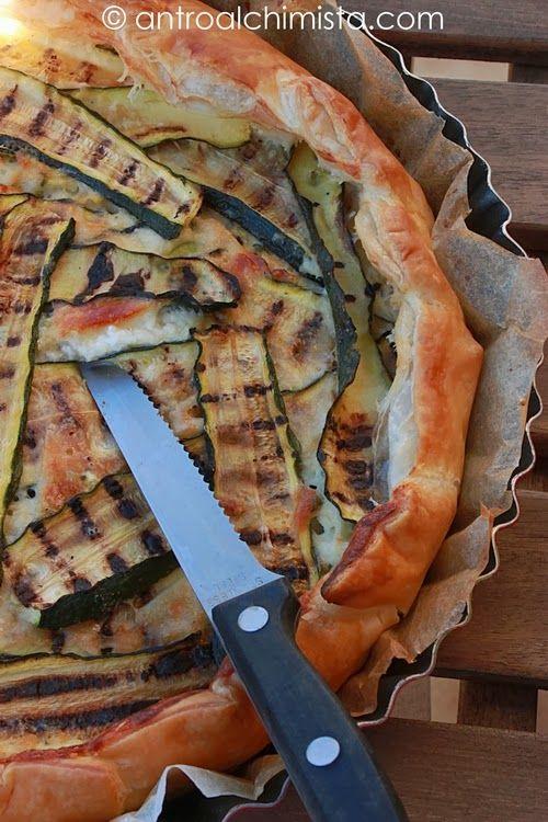 Torta Salata con Stracchino e Zucchine - Stracchino Cheese and Zucchini Pie