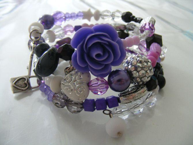 Wire bracelets - zoet geluk - armbanden. juwelen, sieraden, kralen