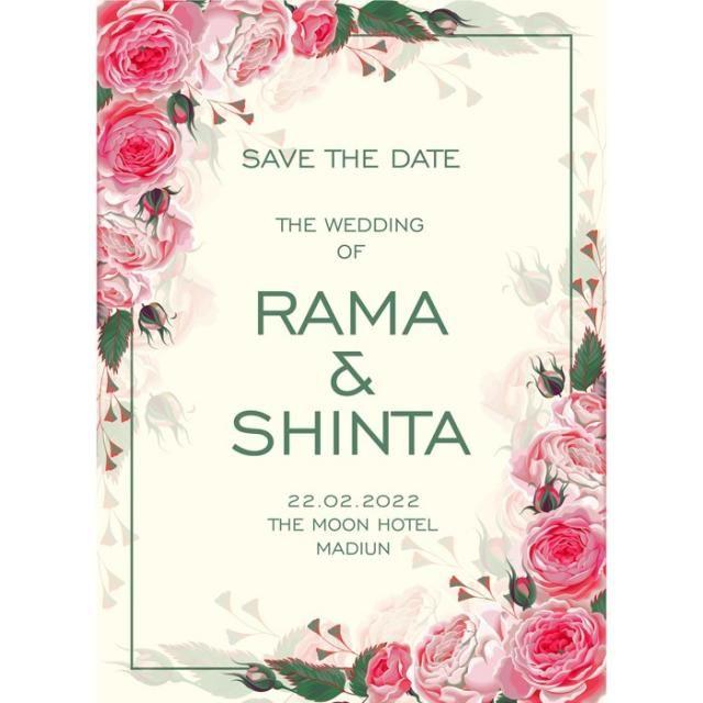 Roses Wedding Wedding Menu Undangan Pernikahan Undangan