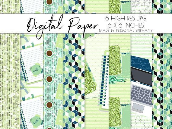Planner girl digital paper, planner digital background, digital paper pack, scrapbooking, background pattern, planner addict clipart glitter