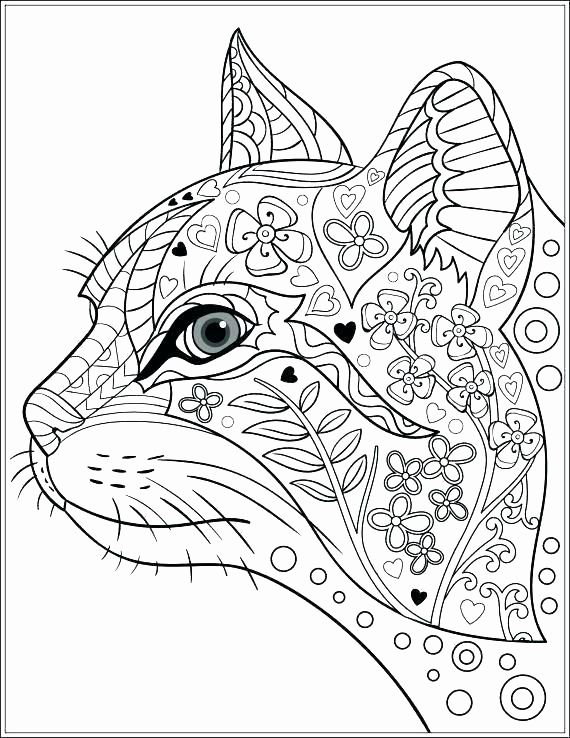 Geometric Animal Coloring Pages In 2020 Cat Coloring Book Cat
