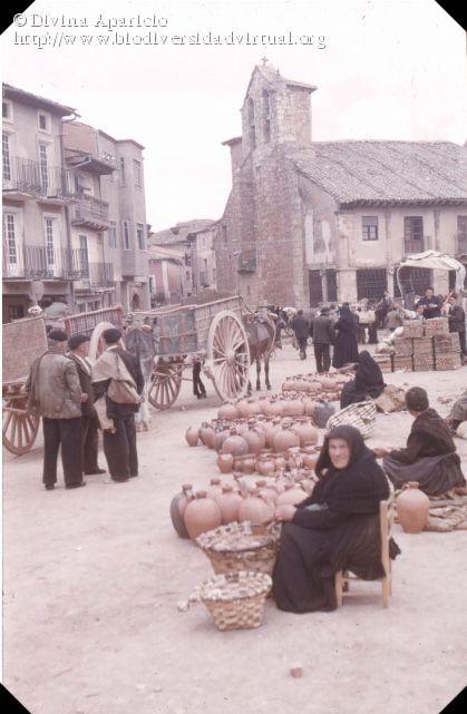 Nombre científico: Feria de alfarería (Ayllón, Segovia, 1955), Descripción: Mediateca M.A.P.A. Colección Fotográfica del Profesor Alain Huetz de Lemps, 1954-1963 http://www.mapama.gob.es/es/ministerio/archivos-bibliotecas-mediateca/mediateca/fotos-Alain-Huetz_tcm7-277937.pdf, Provincia/Distrito: Segovia, País: España, Fecha: 26/01/2017, Autor/a: Divina Aparicio, Id: 77832