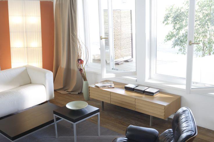 Gealan white window living room interior design