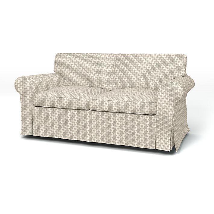 Ektorp, Housses de canapé, 2 places, Regular Fit utiliser le tissu Cubis Peach Skin Pigeon