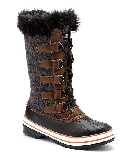 JANDS Gray & Brown Tall Duck Boot   zulily this  boot comes in different  colors too