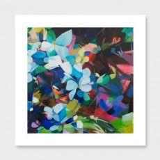 Fragmented in Ultramarine Art Print by Jenni Stringleman