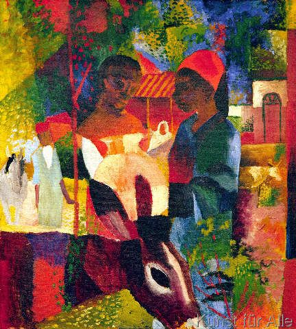 August Macke - Markt in Tunis