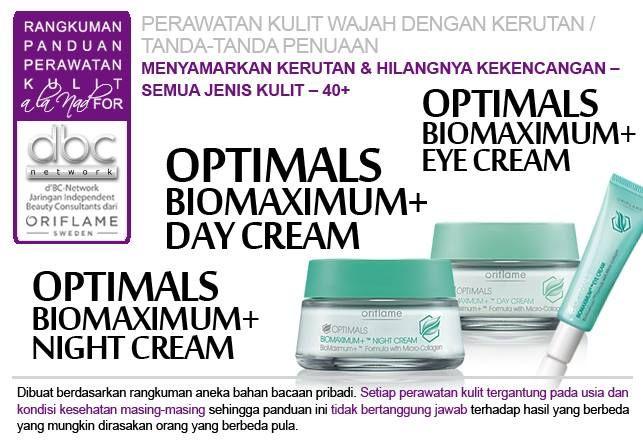 Optimals BioMaximum+ Eye Cream | Optimals BioMaximum+ Day Cream | Optimals BioMaximum+ Night Cream |  #perawatan #kulit #wajah #kerutan #penuaan  #menyamarkan #semuajenis #kulit #40+ #tipsdBCN #Oriflame