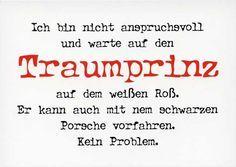 Postkarte mit lustigen Sprüchen – Traumprinz mit Porsche Postkarten Lustige Sprüche