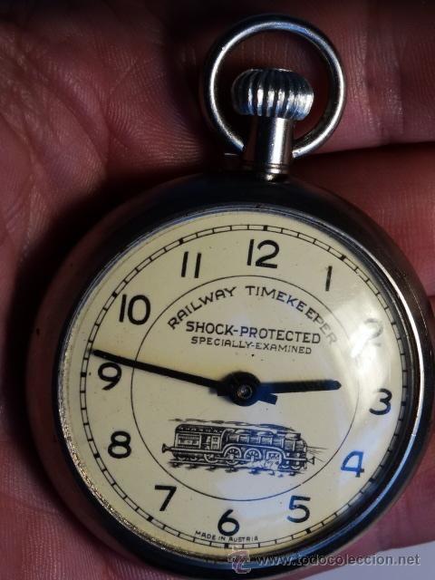 Rerrocarril Reloj de bolsillo ferroviario RAilway Timekeeper made in Austria