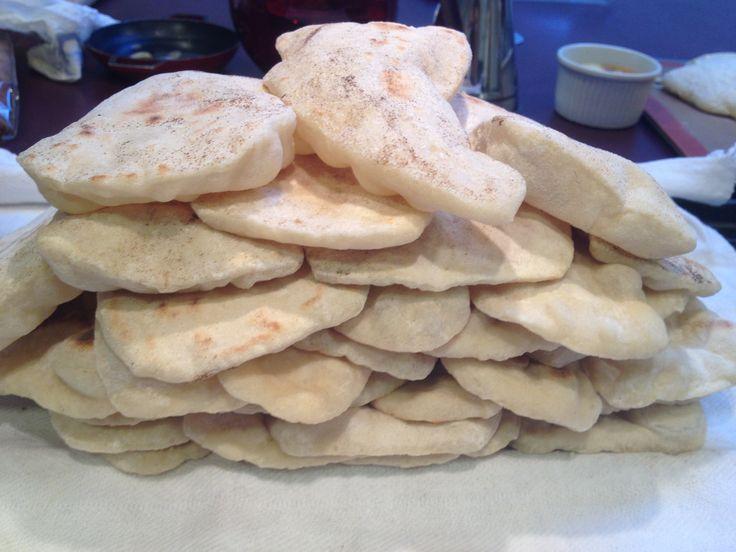 pan, naan, yogur, bread, pan naan
