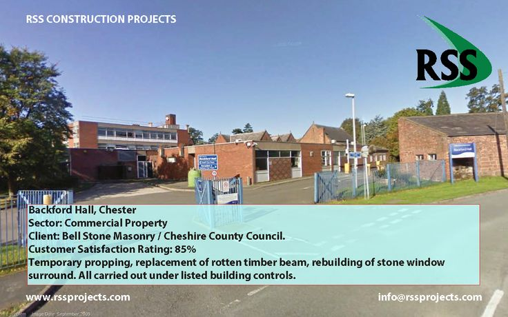 Temporary Propping, Replacement of Rotten Timber Beam, Rebuilding of Stone Window Surround. All carried out under listed building controls. Listed Building Controls http://www.rssprojects.com/Case Studies/backford-hall-chester