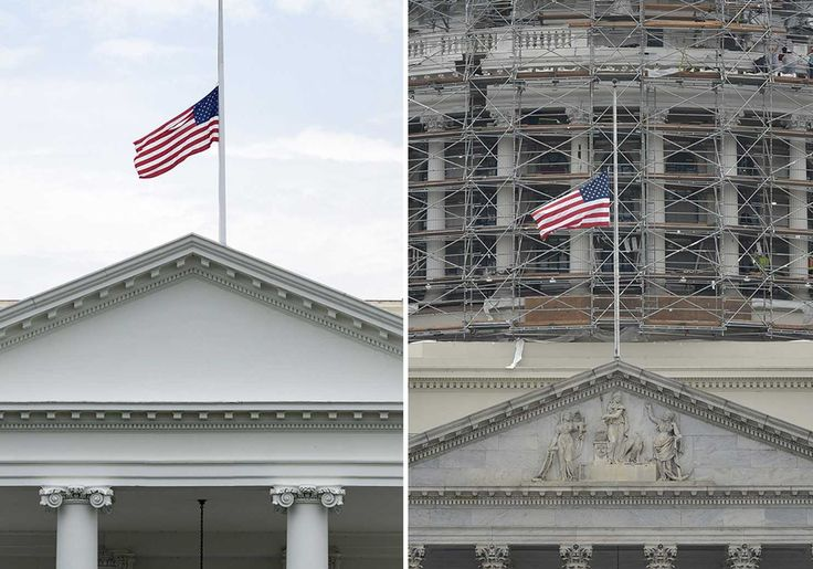 "TIL Flags fly at half-mast to make room for the ""invisible Flag of Death"" above"