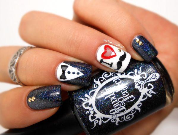 72 best mustache nail art ideas images on pinterest mustache mustache nail art prinsesfo Choice Image