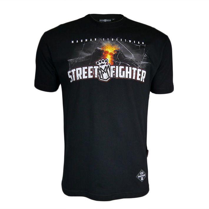 Koszulka 'Street Fighter' - przód ---> Streetwear shop: odzież uliczna, kibicowska i patriotyczna / Przepnij Pina!
