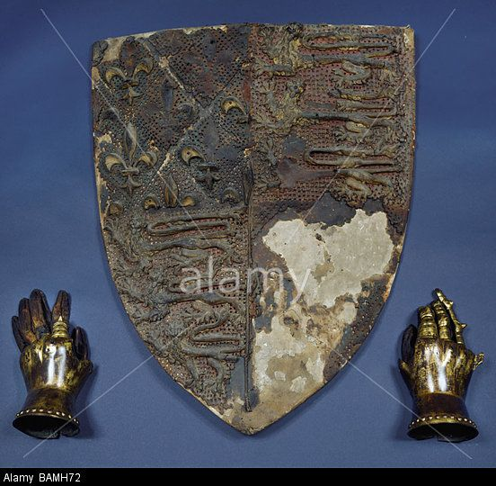 Canterbury Cathedral Edward The Black Prince's Shield And Gauntlets Stock Photo, Picture And Royalty Free Image. Pic. 23809494