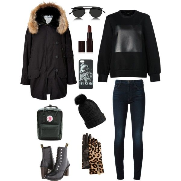A fashion look from January 2015 featuring sweat shirts, fur coat and skinny jeans. Browse and shop related looks.