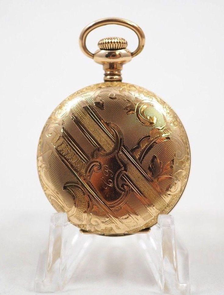 Antique Running 1899 Elgin 0s, 7 Jewels Double Hunter Philadelphia Pocket Watch #ElginNationalWatchCompany