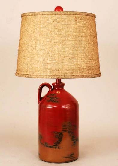 love this color combo         Cabin Decor Table Lamps - Western Decor - Cabin Decor