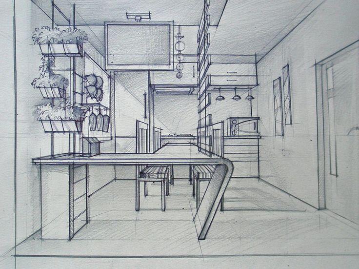 Deviantart more like living room marker by maoundo for Interior design drawing tips