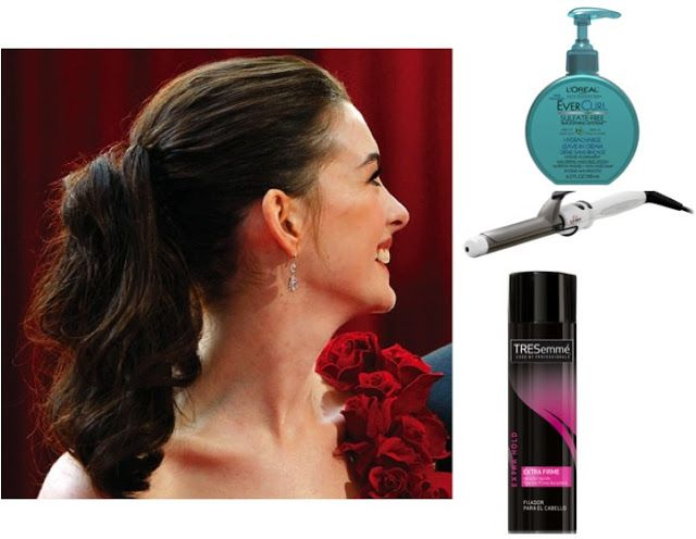GLAM HOLIDAYS - CURLY PONYTAIL #loreal cream #gama hair crimper #tresseme spray