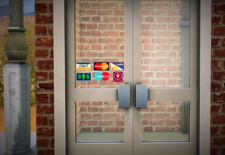 Stickers cartes de credits boutiques