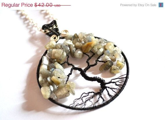 SUMMER SALE Tree of life Pendant Wire Wrapped by MarianaHandmade, $33.60