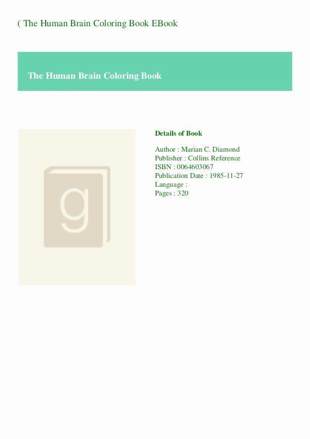 Human Brain Coloring Book Fresh B O O K The Human Brain Coloring Book Ebook Toddler Coloring Book Words Coloring Book Swear Word Coloring Book