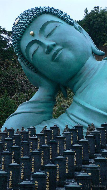 The giant Sleeping Buddha of Nanzoin Temple in Fukuoka, Southern Japan