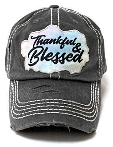 CAPS  N VINTAGE Women s Baseball Cap Thankful  amp  Blessed C... https fc55469cb5e2