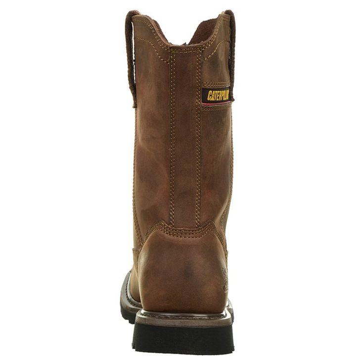 Caterpillar Men's Wellston Medium/Wide Pull On Work Boots (Dark Brown) - 10.0 M