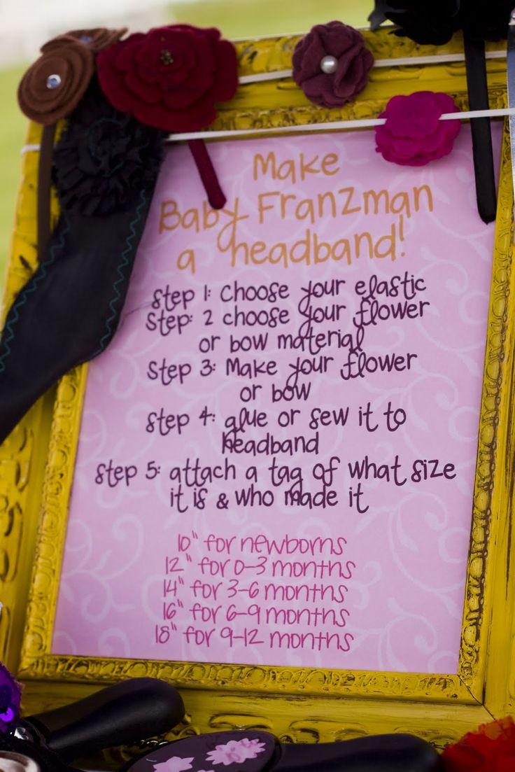 Lilac's & Lemonade Baby Shower | | Kara's Party IdeasKara's Party Ideas  Making headbands for girl babyshower