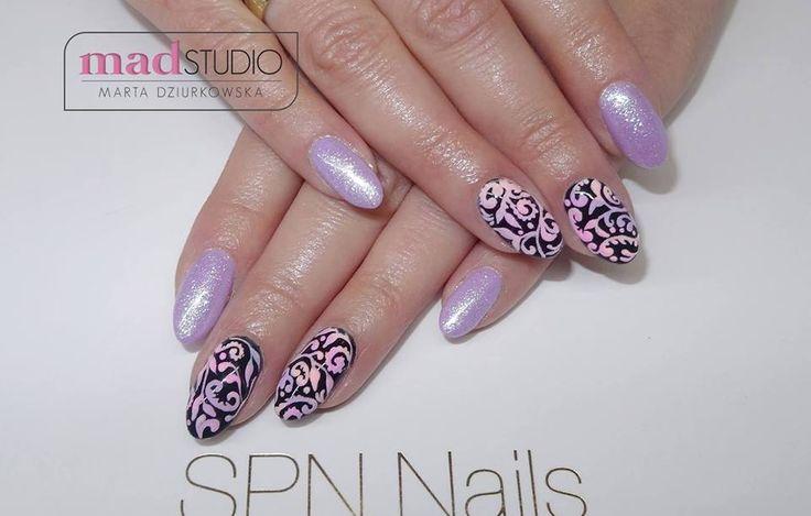 SPN Nails UV laq Pastel Violet, Black Tulip