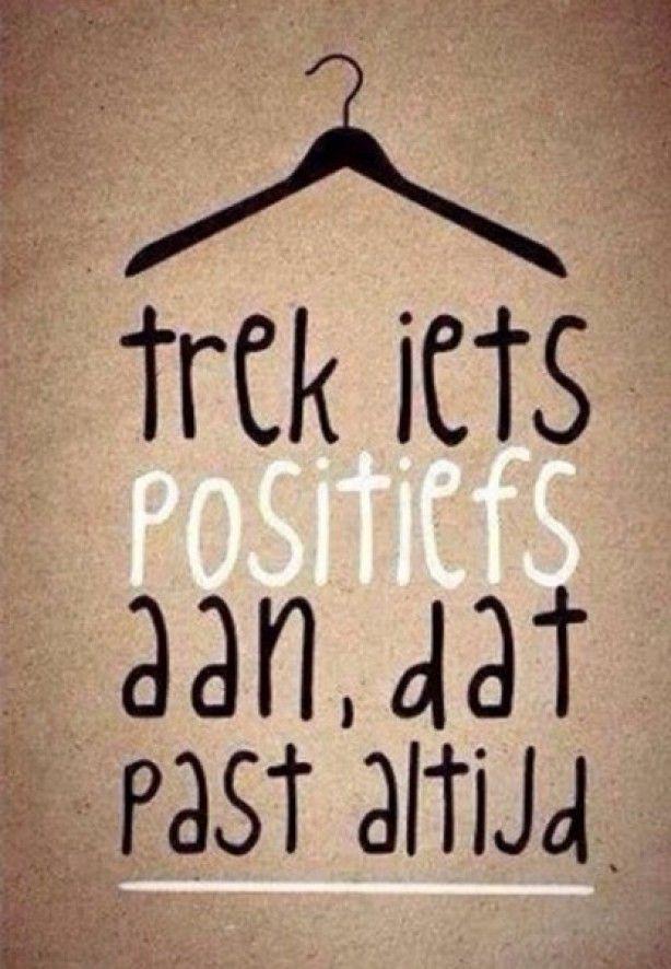 Trek iets positiefs aan