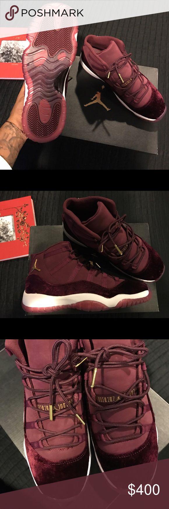 100% AUTHENTIC Jordan Red Velvet 11s Brand new from foot locker Jordan Shoes Sneakers