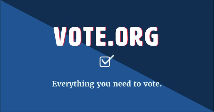 Register to vote. Check your registration status. Get your absentee ballot. Fast, free, easy, secure, nonpartisan.