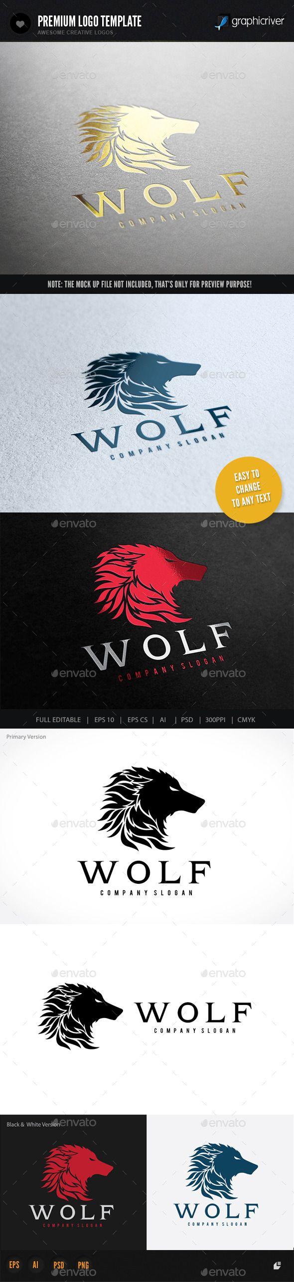 Wolf Logo Template #design #logotype Download: http://graphicriver.net/item/wolf/9318437?ref=ksioks