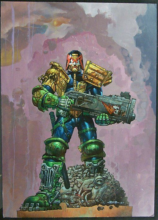 Simon Bisley paints Judge Dredd