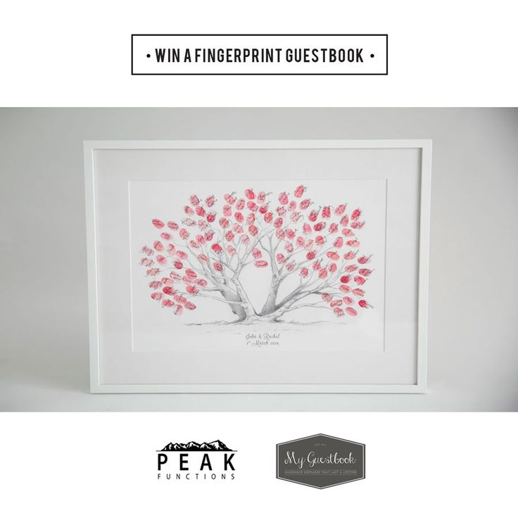 COMPETITION TIME!  To be in with a chance to win a gorgeous Fingerprint Tree Wedding Guestbook from the talented @myguestbook, simply nominate your favourite bride(s)-to-be by tagging them in a comment on our facebook competition post (https://www.facebook.com/peakfunctions/photos/a.536130096457628.1073741828.532747543462550/797639616973340/?type=1&theater) and don't forget to tag yourself if you want to be in the draw to win too! GOOD LUCK!