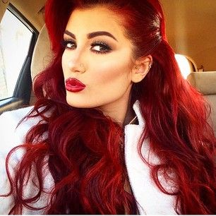 i love this crimson red hair color. but i'm married to blonde.