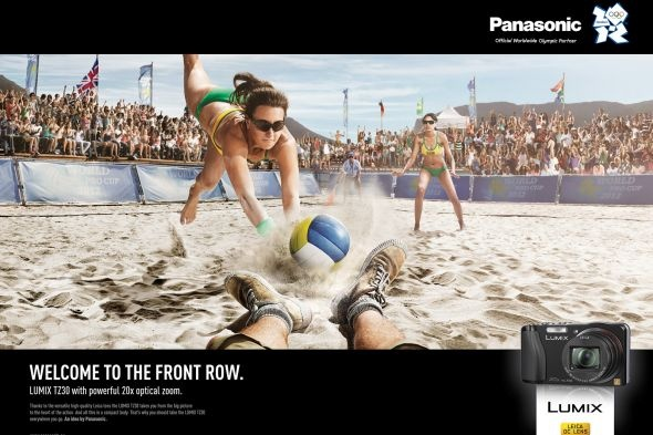 Panasonic Front Row Volleyball Ad Of The World Front Row Sports Graphic Design